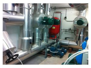 Sala distribuzione fluidi vettori