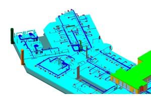 Modello con impianti climatizzazione